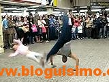 breakdancer hits a kid