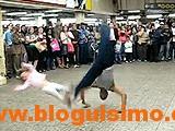 breakdancer hits a kid