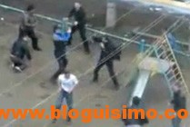 Pelea de grupos en Rusia