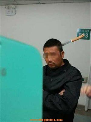 chino cuchillo cabeza