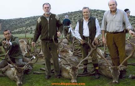 El ex ministro de justicia es un gran aficionado a la caza.