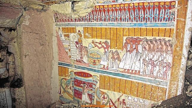 La tumba del jefe cervecero, dedicada a la diosa Mut en la época ramésida (siglos XIII a XI a. C.)