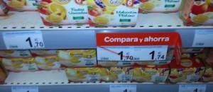 Foto: Potitos en una estantería de Carrefour.