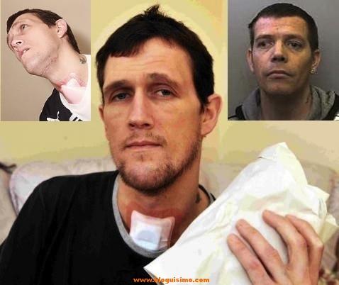 En la foto de la derecha (mirando para la izquierda), Jamie Edney, el acusado.