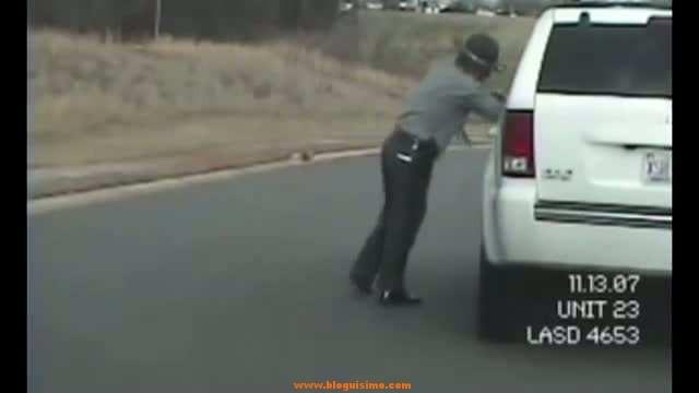 policia borracho