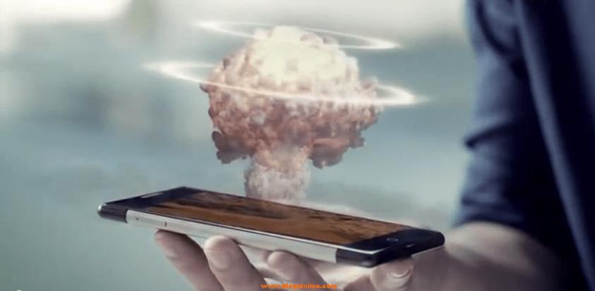 smartphone holografia