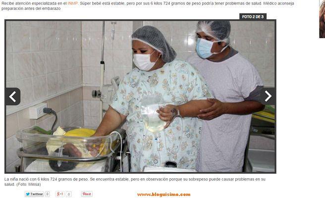 Mujer da a luz a un bebé de casi 7 kilos2