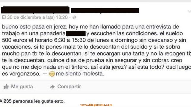 Trabaja de lunes a domingo, 9 horas al día y sin vacaciones por 500 euros al mes